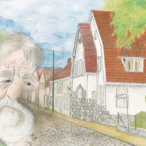 Dr. med. Walczak vor der alten Apotheke in der Hager Hauptstraße